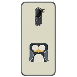 Funda Gel Tpu para Alcatel 3x Diseño Pingüino Dibujos