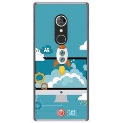Funda Gel Tpu para Alcatel 5 Diseño Cohete Dibujos