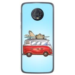 Funda Gel Tpu para Motorola Moto G6 Diseño Furgoneta Dibujos