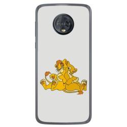 Funda Gel Tpu para Motorola Moto G6 Diseño Leones Dibujos