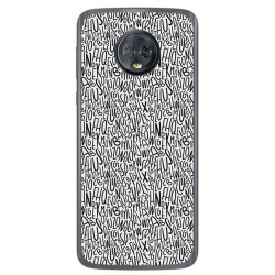 Funda Gel Tpu para Motorola Moto G6 Diseño Letras Dibujos