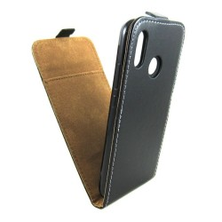 Funda Piel Premium Negra Ultra-Slim para Huawei P20 Lite