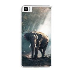Funda Gel Tpu para Bq Aquaris M5.5 / M 2017 Diseño Elefante Dibujos