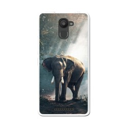 Funda Gel Tpu para Bq Aquaris U Plus Diseño Elefante Dibujos