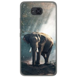 Funda Gel Tpu para Bq Aquaris U2 / U2 Lite Diseño Elefante Dibujos