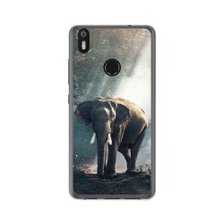 Funda Gel Tpu para Bq Aquaris X / X Pro Diseño Elefante Dibujos
