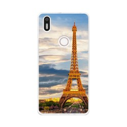 Funda Gel Tpu para Bq Aquaris X5 Plus Diseño Paris Dibujos