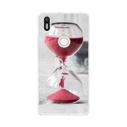 Funda Gel Tpu para Bq Aquaris X5 Plus Diseño Reloj Dibujos