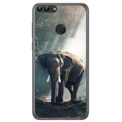 Funda Gel Tpu para Huawei P Smart Diseño Elefante Dibujos