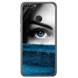 Funda Gel Tpu para Huawei P Smart Diseño Ojo Dibujos