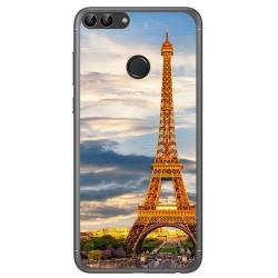 Funda Gel Tpu para Huawei P Smart Diseño Paris Dibujos