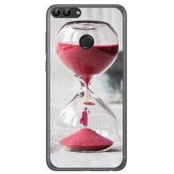 Funda Gel Tpu para Huawei P Smart Diseño Reloj Dibujos