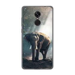 Funda Gel Tpu para Xiaomi Redmi Note 4X / 4 Version Global Diseño Elefante Dibujos