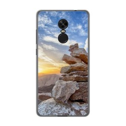 Funda Gel Tpu para Xiaomi Redmi Note 4X / 4 Version Global Diseño Sunset Dibujos