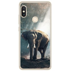 Funda Gel Tpu para Xiaomi Redmi Note 5 / Note 5 Pro Elefante Dibujos