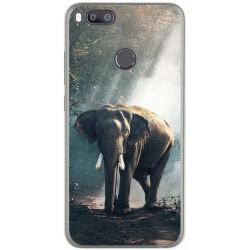Funda Gel Tpu para Xiaomi Mi 5X / Mi A1 Diseño Elefante Dibujos