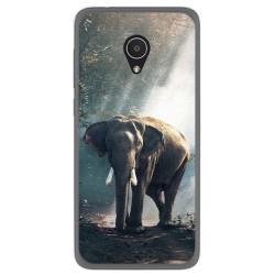 Funda Gel Tpu para Alcatel 1X Diseño Elefante Dibujos