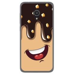 Funda Gel Tpu para Alcatel 1X Diseño Helado Chocolate Dibujos