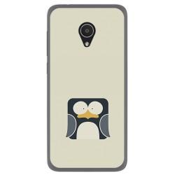 Funda Gel Tpu para Alcatel 1X Diseño Pingüino Dibujos
