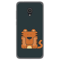 Funda Gel Tpu para Alcatel 1X Diseño Tigre Dibujos