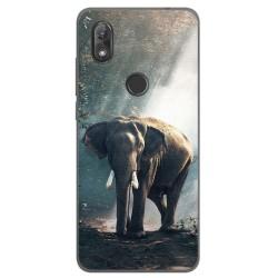 Funda Gel Tpu para Wiko View2 Diseño Elefante Dibujos