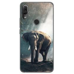 Funda Gel Tpu para Wiko View2 Pro Diseño Elefante Dibujos