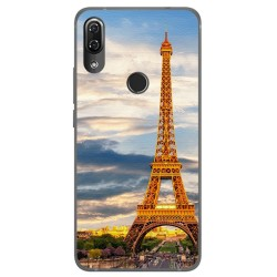 Funda Gel Tpu para Wiko View2 Pro Diseño Paris Dibujos