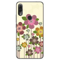 Funda Gel Tpu para Wiko View2 Pro Diseño Primavera En Flor Dibujos