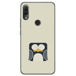 Funda Gel Tpu para Wiko View2 Pro Diseño Pingüino Dibujos