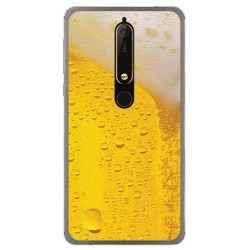 Funda Gel Tpu para Nokia 6.1 (2018) Diseño Cerveza Dibujos