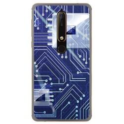 Funda Gel Tpu para Nokia 6.1 (2018) Diseño Circuito Dibujos