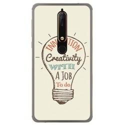 Funda Gel Tpu para Nokia 6.1 (2018) Diseño Creativity Dibujos