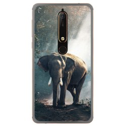Funda Gel Tpu para Nokia 6.1 (2018) Diseño Elefante Dibujos