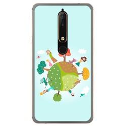 Funda Gel Tpu para Nokia 6.1 (2018) Diseño Familia Dibujos