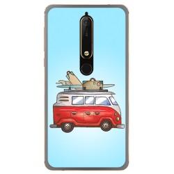 Funda Gel Tpu para Nokia 6.1 (2018) Diseño Furgoneta Dibujos