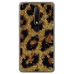 Funda Gel Tpu para Nokia 6.1 (2018) Diseño Leopardo Dibujos