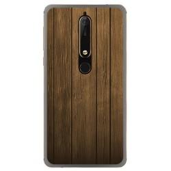 Funda Gel Tpu para Nokia 6.1 (2018) Diseño Madera Dibujos