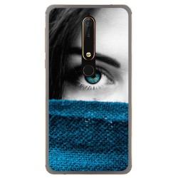 Funda Gel Tpu para Nokia 6.1 (2018) Diseño Ojo Dibujos