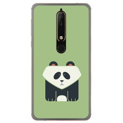 Funda Gel Tpu para Nokia 6.1 (2018) Diseño Panda Dibujos