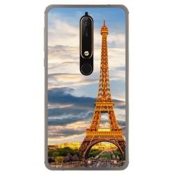 Funda Gel Tpu para Nokia 6.1 (2018) Diseño Paris Dibujos