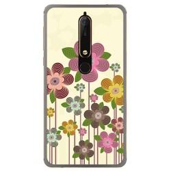 Funda Gel Tpu para Nokia 6.1 (2018) Diseño Primavera En Flor Dibujos