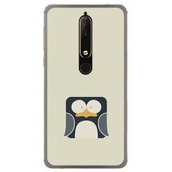 Funda Gel Tpu para Nokia 6.1 (2018) Diseño Pingüino Dibujos