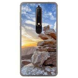 Funda Gel Tpu para Nokia 6.1 (2018) Diseño Sunset Dibujos