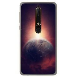 Funda Gel Tpu para Nokia 6.1 (2018) Diseño Tierra Dibujos