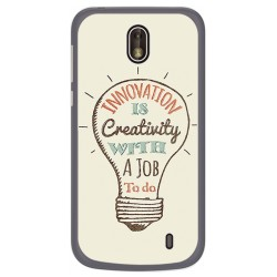 Funda Gel Tpu para Nokia 1 Diseño Creativity Dibujos