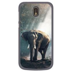Funda Gel Tpu para Nokia 1 Diseño Elefante Dibujos