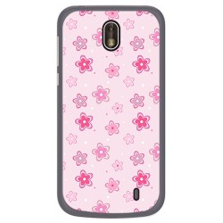 Funda Gel Tpu para Nokia 1 Diseño Flores Dibujos