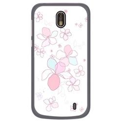 Funda Gel Tpu para Nokia 1 Diseño Flores Minimal Dibujos