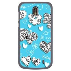 Funda Gel Tpu para Nokia 1 Diseño Mariposas Dibujos