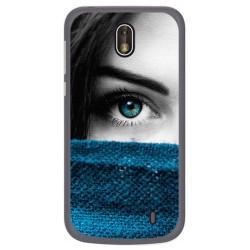 Funda Gel Tpu para Nokia 1 Diseño Ojo Dibujos